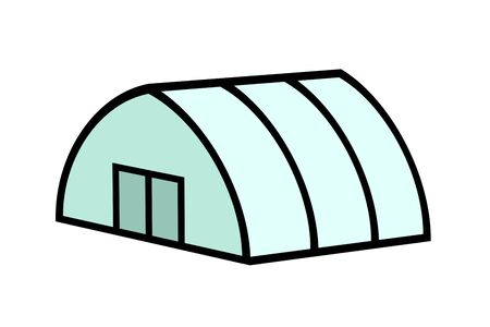 Plastic greenhouse Banco de Imagens