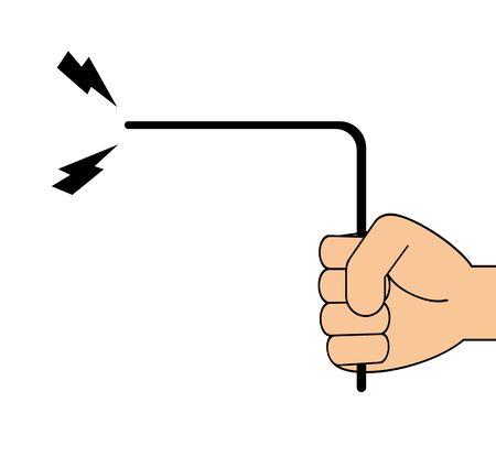 Hands to do dowsing.