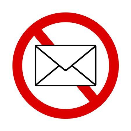 Mail prohibited mark.