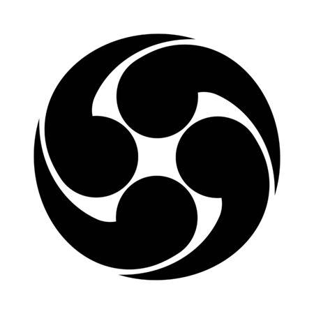 Mark of four swirl.