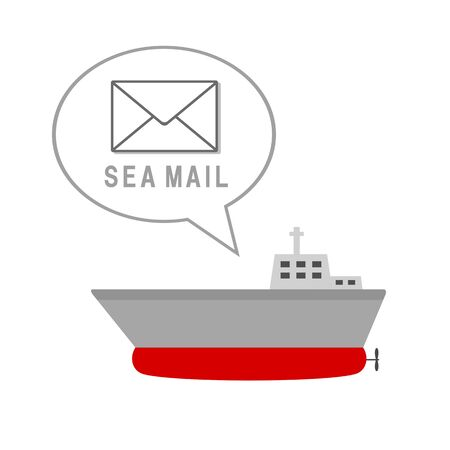 The ship which delivers Sea mail.