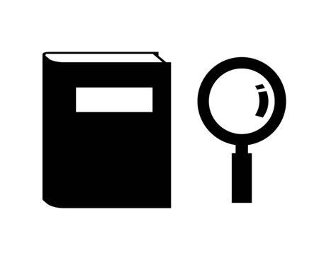 Book and a loupe Banco de Imagens