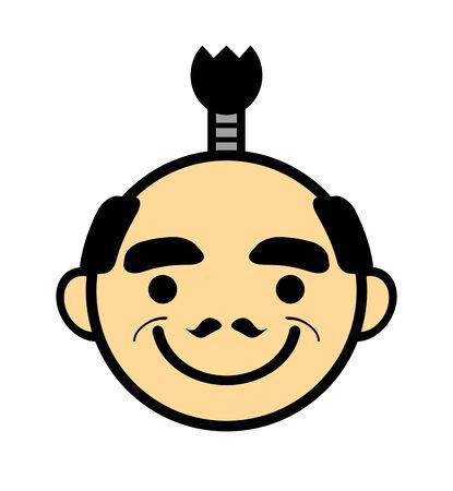 Icon of Japanese King. Banco de Imagens