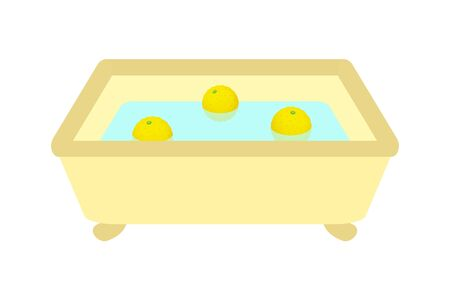 Citron is floating in a bathtub.
