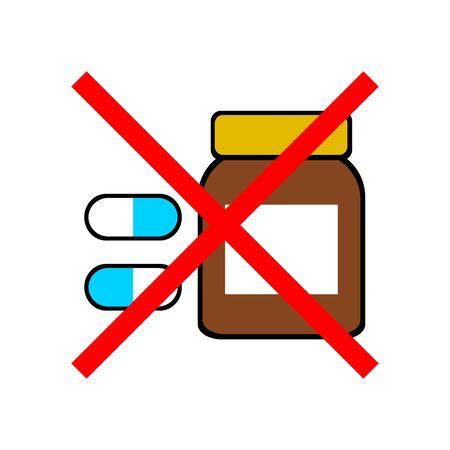 Mark of medicine prohibited.
