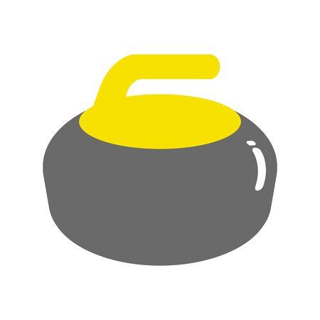 Curling stone 写真素材
