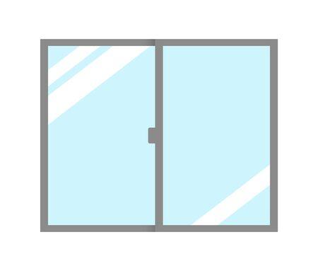 Closed window glass. Stock Photo - 131647093