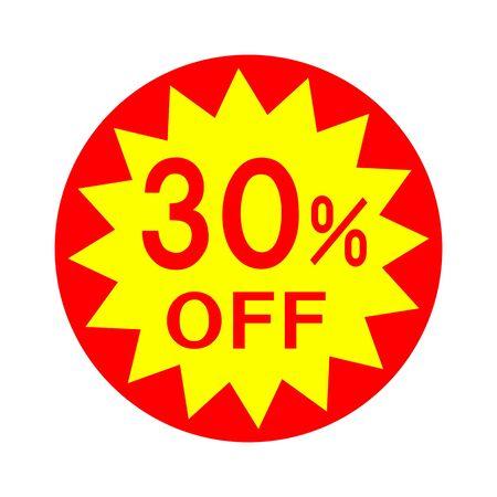 30 percent off 免版税图像