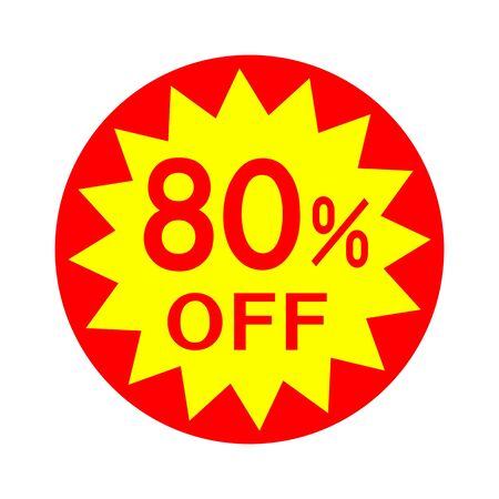 80 percent off Stock fotó - 131647203
