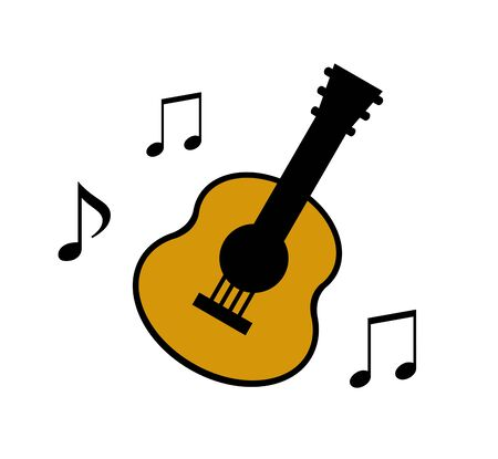 Music of a guitar.