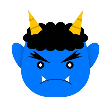 Blue demons face.
