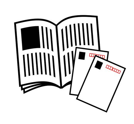 Magazine and postcard 写真素材