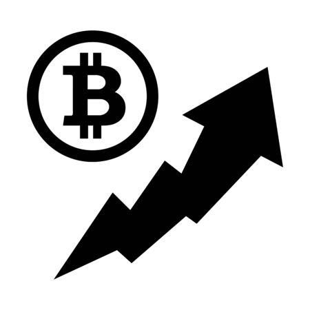 Bitcoin price rise 写真素材