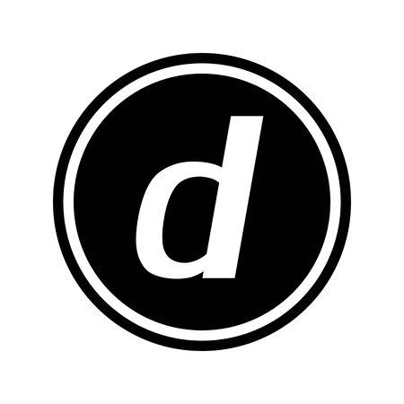 Mark of D button. Banco de Imagens