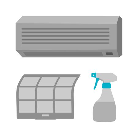 Air conditioner washing Imagens