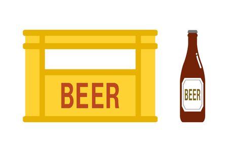 Bottle of beer and a beer case 版權商用圖片