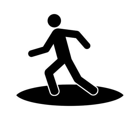 The pictogram which imagined a surfer.
