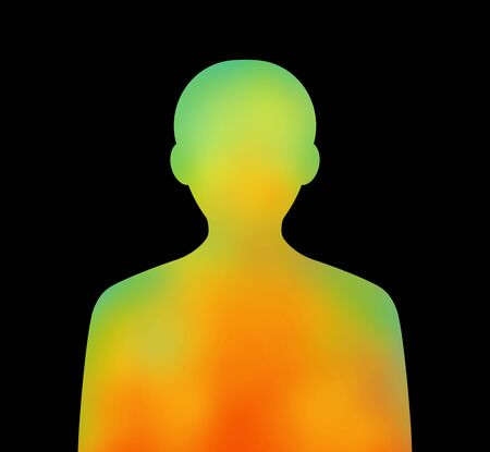 Image of a thermography. Archivio Fotografico