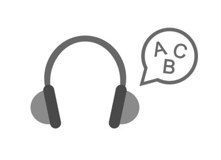 English listening Banque d'images