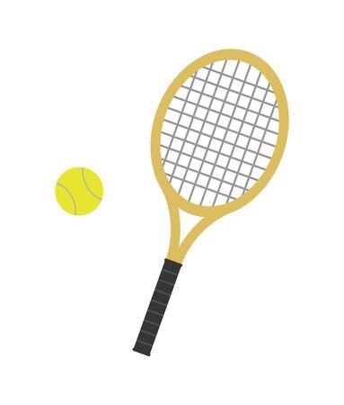 Tennis racket and ball.