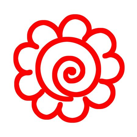 Mark of Flower Circle. 스톡 콘텐츠