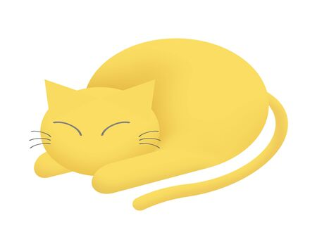 A cat is sleeping. 스톡 콘텐츠