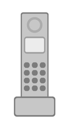 Cordless handset of the telephone