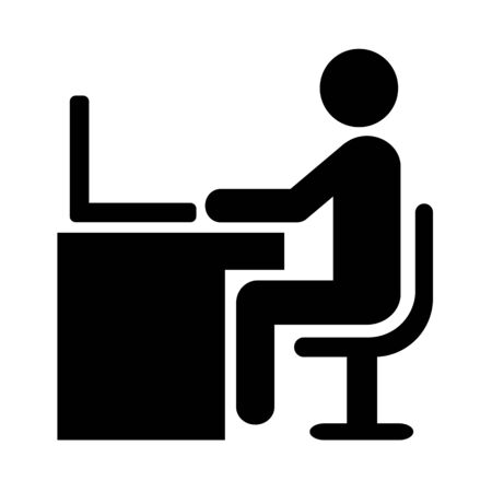 Pictogram of a desk work Stok Fotoğraf - 133095011