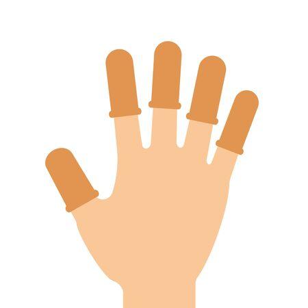 Finger wearing fingerstall.