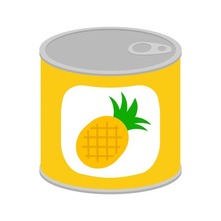 Pineapple canned food Stok Fotoğraf
