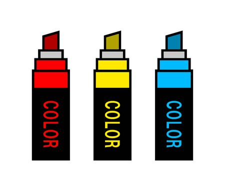 Marker with the Various Colors.