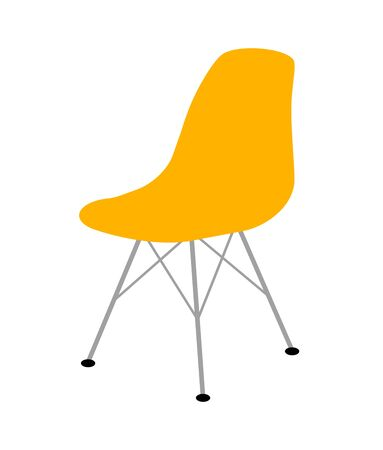 Yellow Eames chair. 스톡 콘텐츠