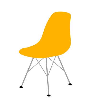 Yellow Eames chair. Stock fotó