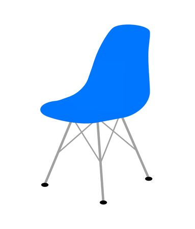 Blue Eames chair.