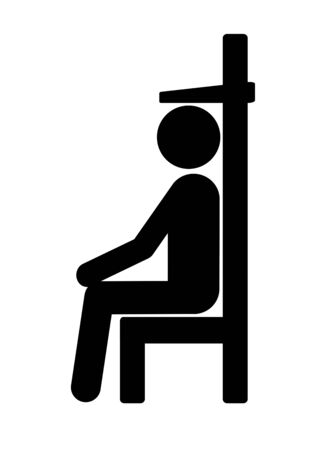 Measurement of the height when sitting