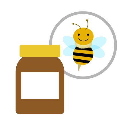 Bottle of a supplement using a bee.
