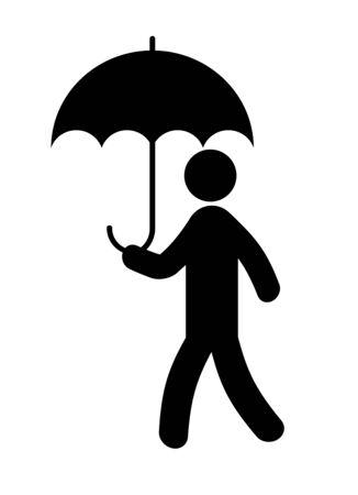 Person using the umbrella