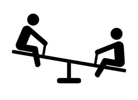 Pictogram of a seesaw