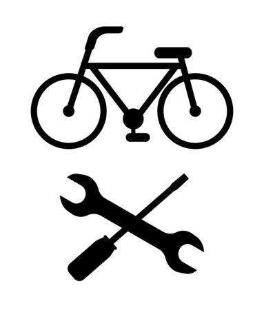 Repairing of a bicycle Stock fotó