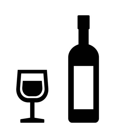 Wine glass and wine bottle