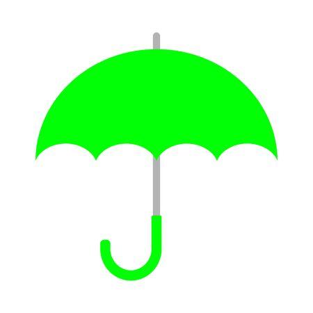 The olive green umbrella
