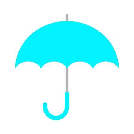 The light-blue umbrella