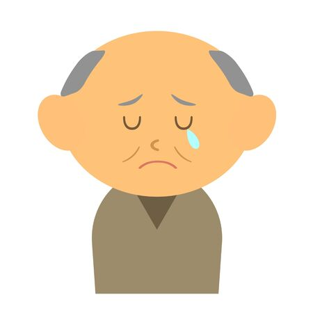 Crying grandfather