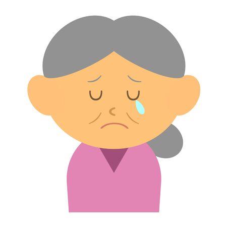 Crying grandmother Reklamní fotografie