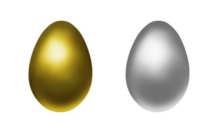 Gold egg and silver egg