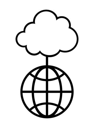 Cloud connecting to the earth