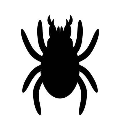 The silhouette of the tick