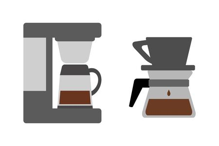 Coffee machine and coffee filter.