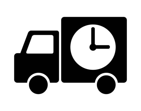 Delivery time specified truck Banque d'images