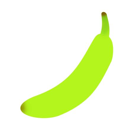 The banana which is still immature